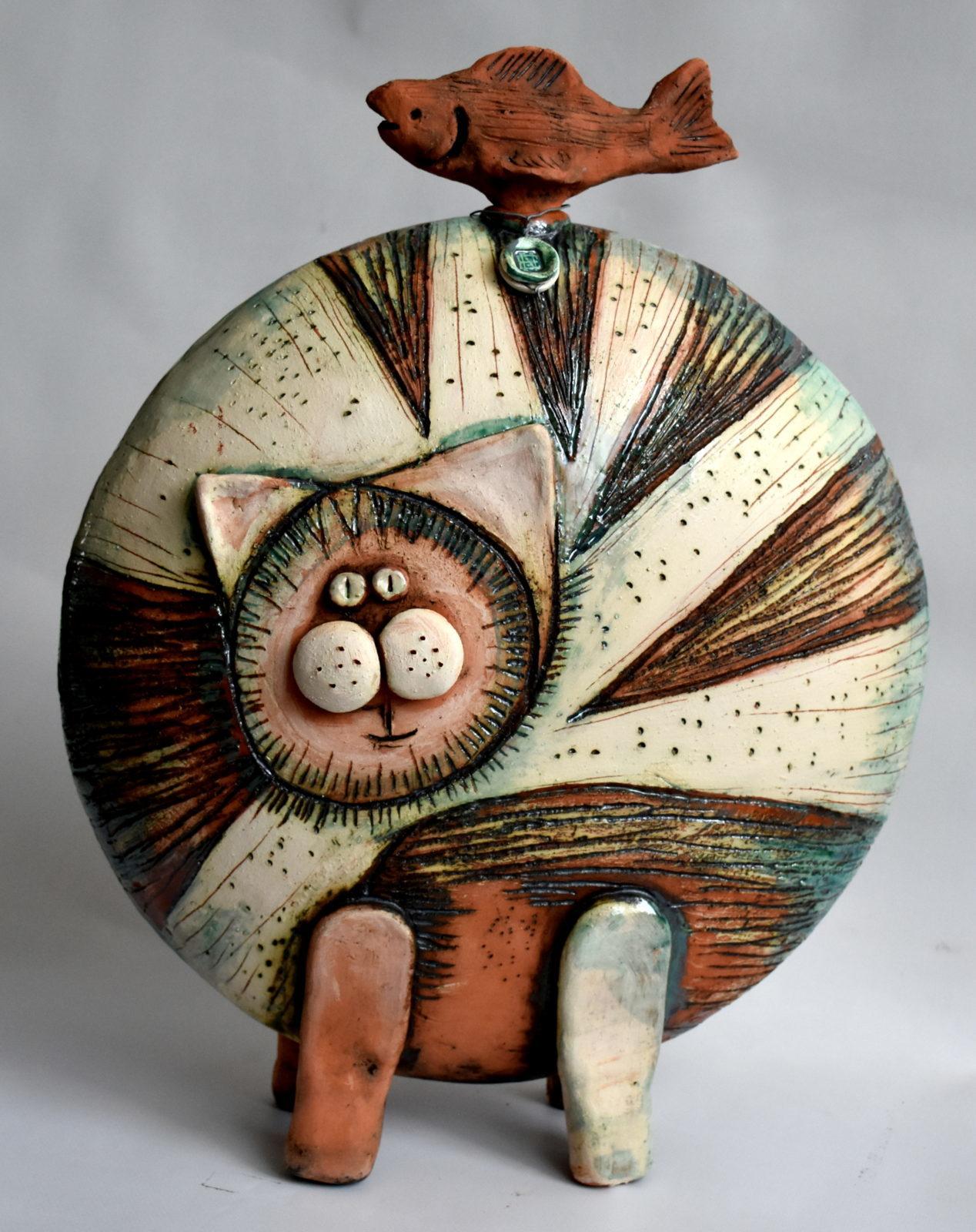 Enrica Noceto-opera con gatto